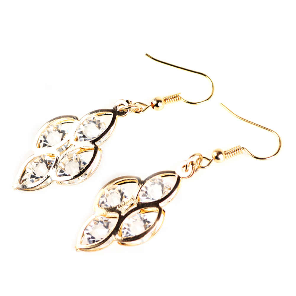 1Pair New Fashion Gold Color Multi  Earring for Women Brand Designer Small Circle Earrings Geometric Jewelry Gifts New Arrival