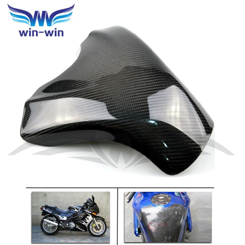 высокое качество мотоцикл аксессуары черный цвет углеродного волокна топливного газа бака протектор Pad щит для Suzuki GXSR 600 750 11-13
