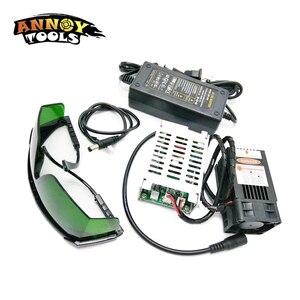 Image 2 - 450nm 15000mW 12V  Laser Module TTL Adjustable Focus Laser Cutter engraver accessories 15W laser head