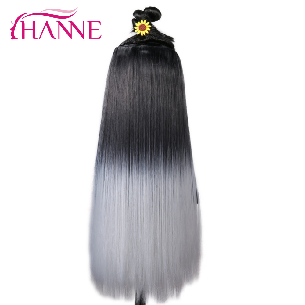 Wingee 20 Length Straight Hair 5 Clips In Hair Extensions Synthetic