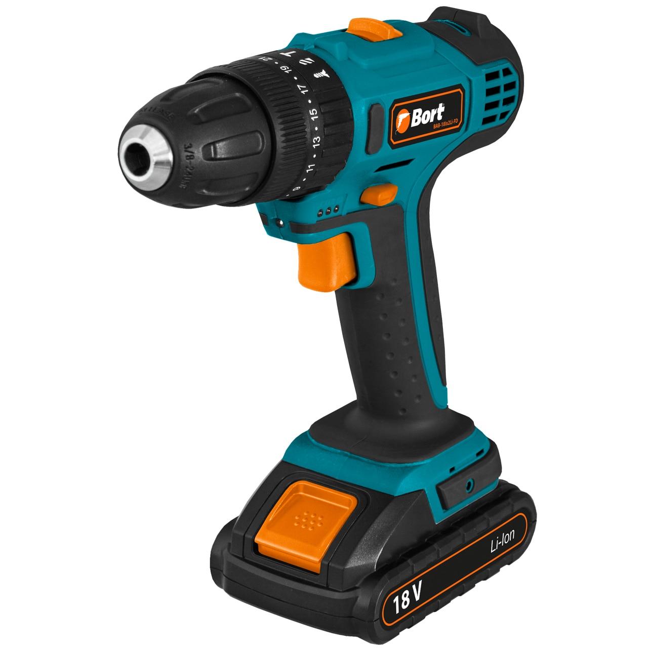 Drill driver rechargeable shock BORT BAB-18Ix2Li-FD shock absorber ad2580 absorber buffer bumper free shipping
