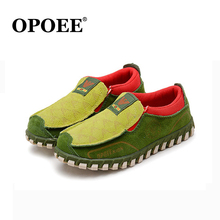 Genuine Leather Kids Girls Casual Shoes Classical Soft Leather Lightweight Running Boys Shoes Students Leisure Sneakers