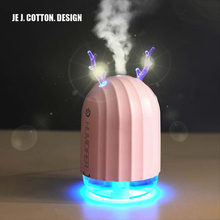 лучшая цена New Deer Air Humidifier Mini USB with LED Night Lamp Colorful Ultrasonic Humidifier Oil Diffuser 220ML For Home Office Car