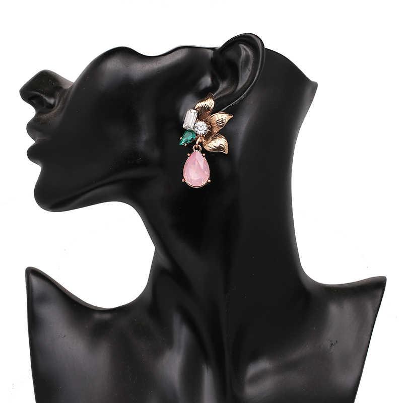 ורוד קריסטל Drop עגיל Oorbellen 2019 חדש חמוד אופנה עגילים לנשים ייחודי קסמי גבירותיי עגיל יוקרה Tiffan עגיל
