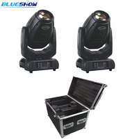 2 pcs/flightcase  sharpy 빔 280w 10r 빔 스팟 워시 led 이동 헤드 라이트 3in1 lyre stage projector