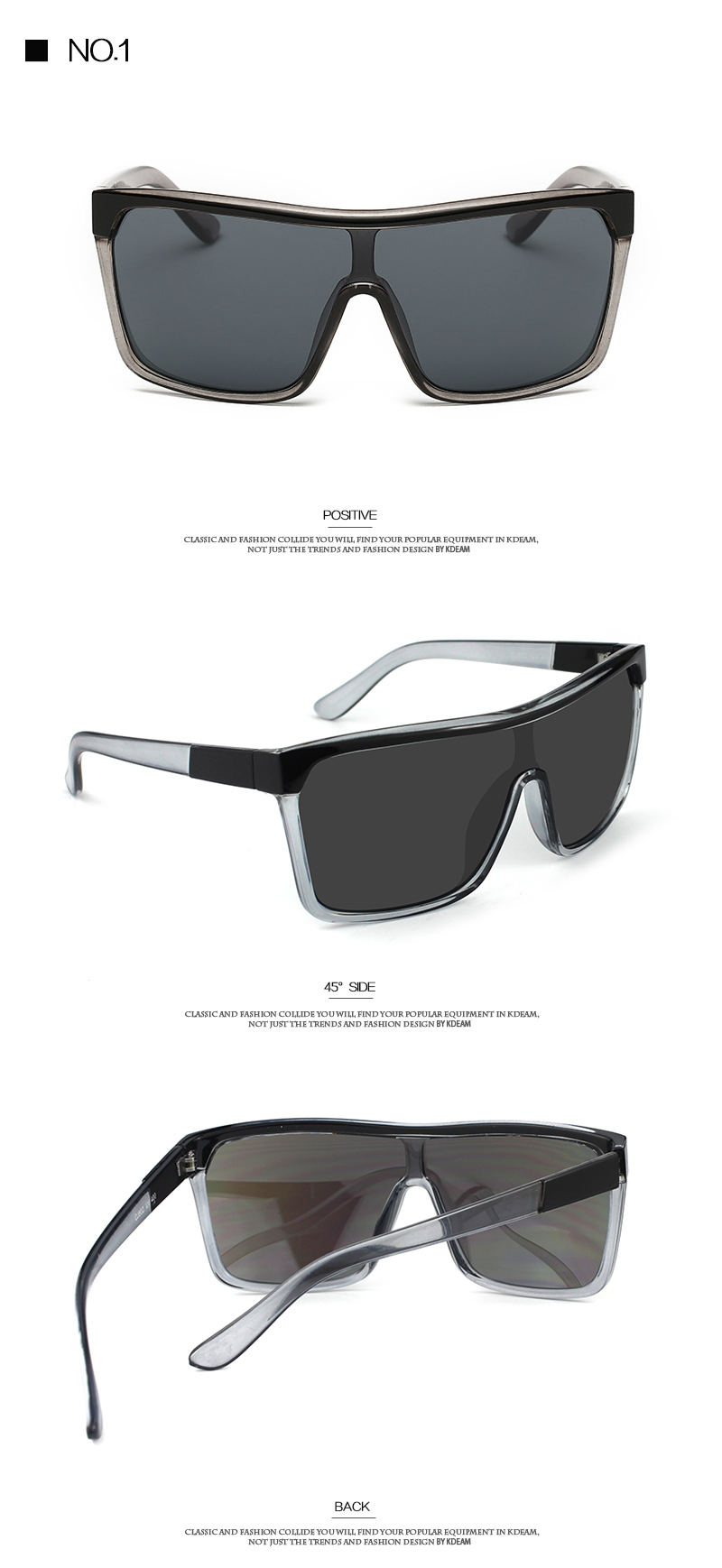 a92c50cff5b KDEAM Mens Goggle Flynn Sport Sunglasses Flat top Frame Women Sun Glasses  Windproof Glasses UV400 4 colors with Case KD802. 111 size all colors 1 ...