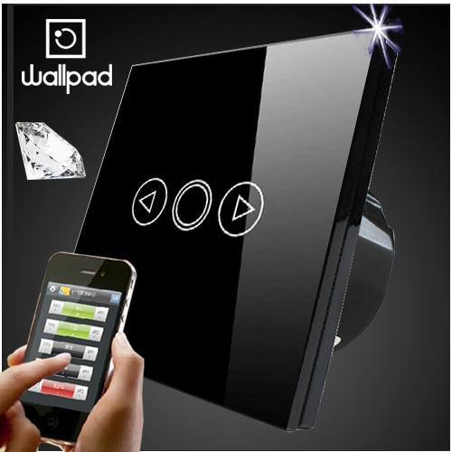 Wallpad EU UK 86 Standard Crystal Glass Black Wifi Dimmer Switch,Wireless Remote control wall Dimmer touch switch,Free Shipping eu 1 gang wallpad wireless remote control wall touch light switch crystal glass white waterproof wifi light switch free shipping