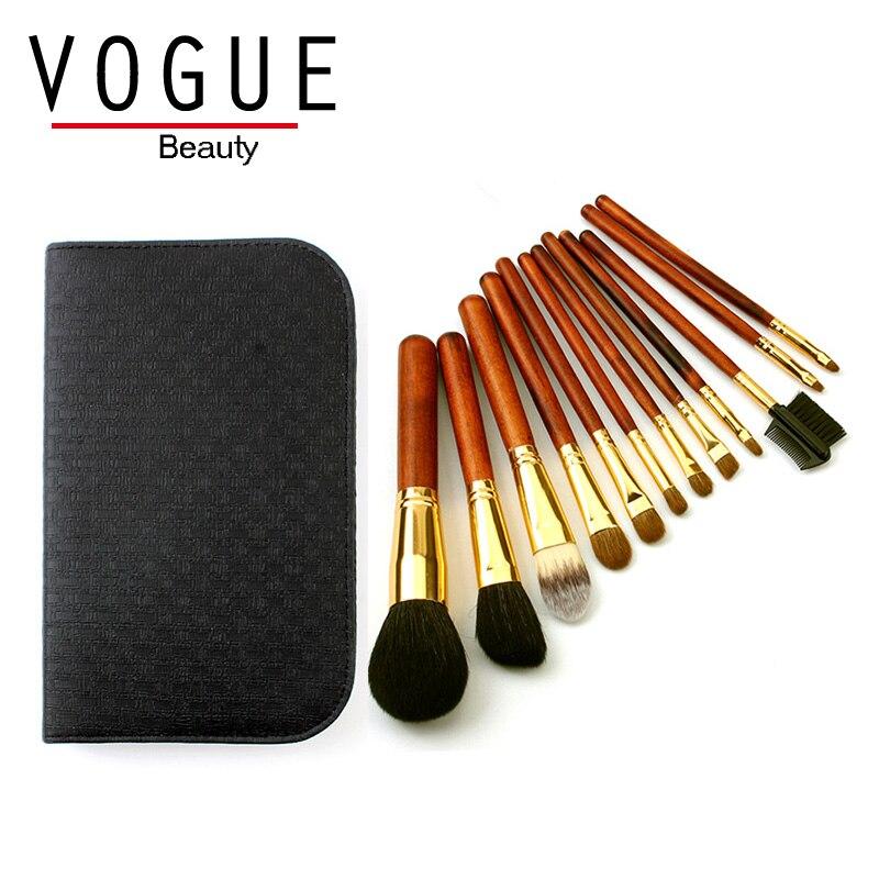 12 Pcs/set Travel Premiuim Makeup Brushes Professional Beauty gold Make up Brush Set with bag kit Foundation Powder eye brushes