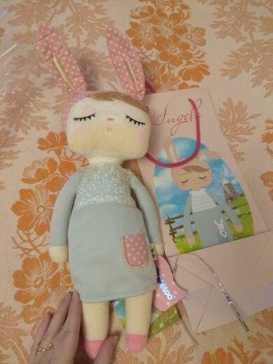 Boxed Metoo Doll kawaii Plush Soft Stuffed Plush Animals Baby Kids Toys for Children Girls Boys Birthday Christmas Angela Rabbit