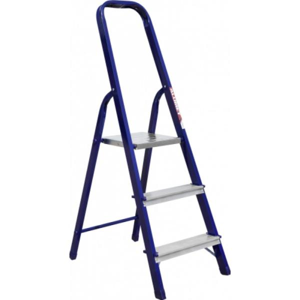 Stepladder steel KRATON painted with aluminum steps, 82 cm, 4.6 kg, 4st slogan steps sticker
