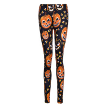 Pumpkin Digital Print Halloween Leggings