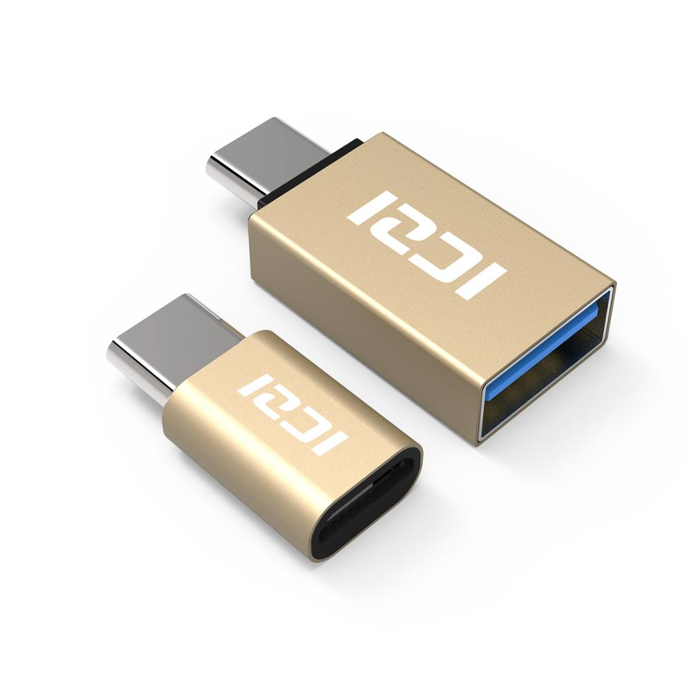 ICZI OTG Type C To Micro USB Adapter + Type C To USB 3.0 Converter Thunderbolt 3 For For Macbook Pro Samsung S10 One Plus Xiaomi