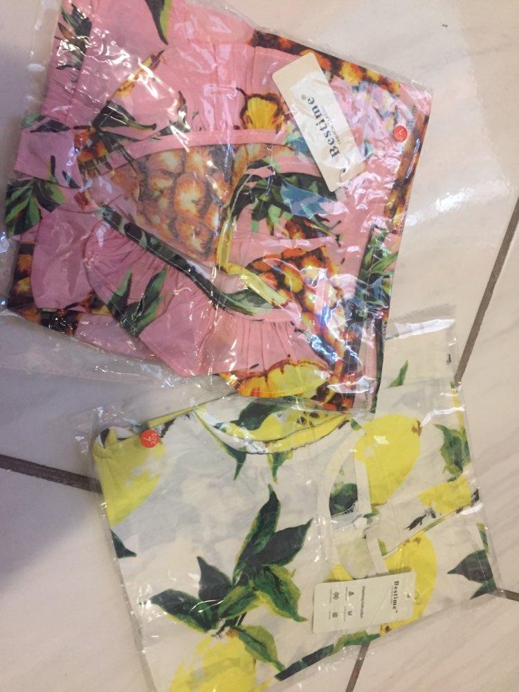 Summer Kids Dresses for Girls Pineapple Lemon Girl Dresses Cotton Sleeveless Children Sundress Sarafan Clothes for Girls 2-7y