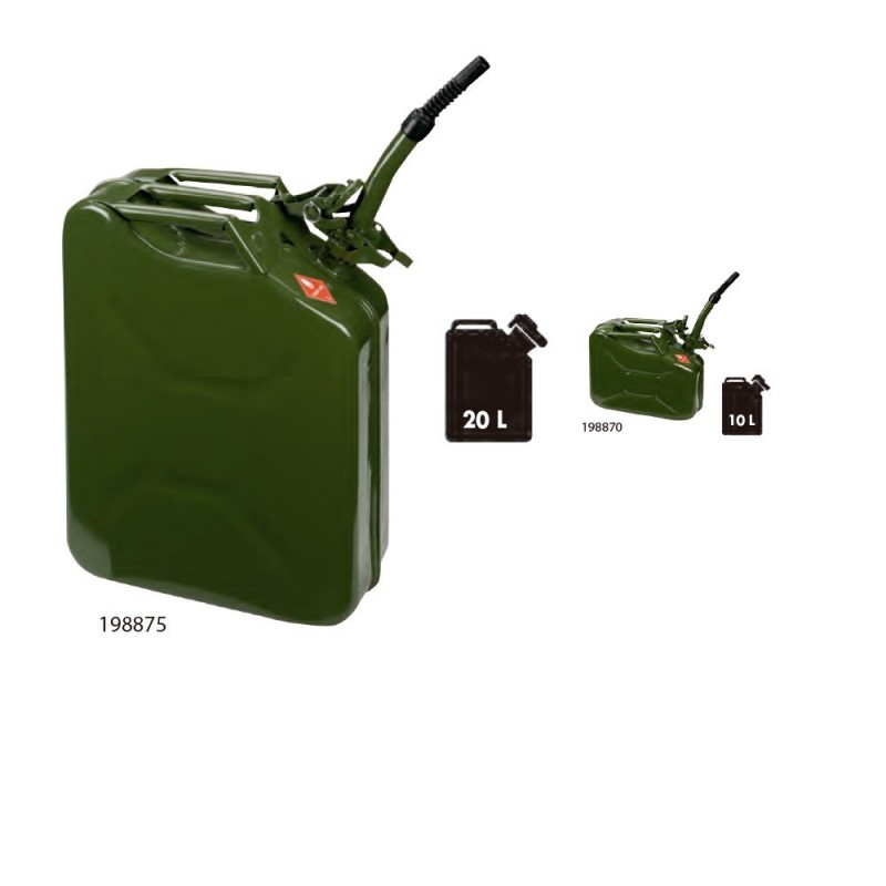 ALYCO 198870-Drum Metal 10L. (jerrycan) With Flexible Mouth