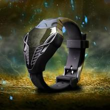 Cobra Sport Watch Black Color Men's LED Digital Watch Cobra Triangle Dial Silicone Sports Electronic Watches
