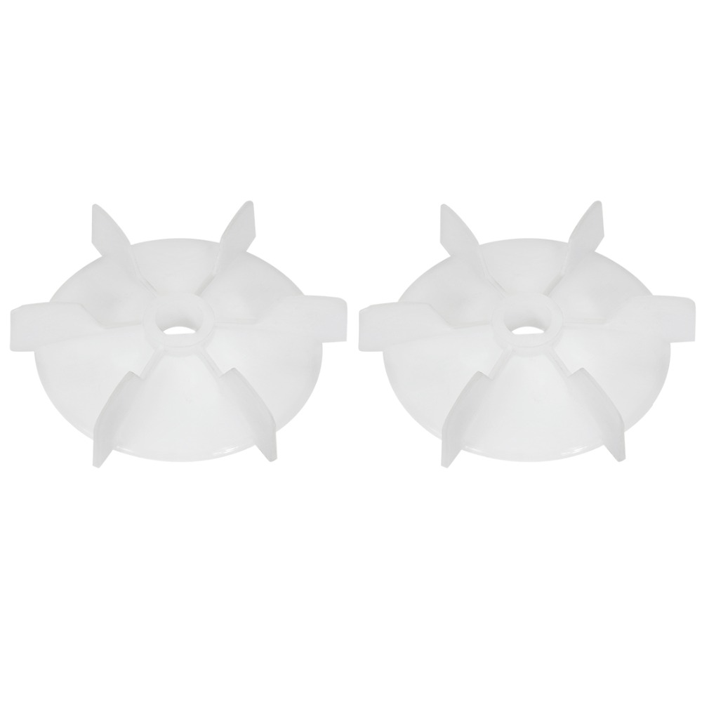 Uxcell 2Pcs 103x14mm/140x18mm D Shaft Replacement White Plastic 6 Impeller High Temperature Cooling Motor Fan Vane Customizable