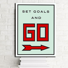 Set Goals And Go Alec Monopolyingly Canvas Prints Picture Modular Paintings For Living Room Poster On The Wall Home Decoration(China)