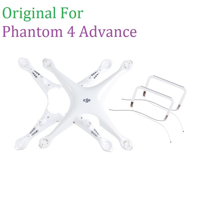 100% Original DJI Phantom 4 Advance Body Upper Shell Middle Frame Landing Gear For Phontom 4A Housing Repair Parts