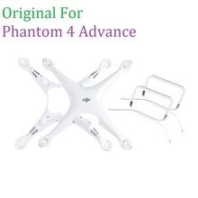 100% oryginalny DJI Phantom 4 Advance ciała górnej powłoki bliski rama zestaw do lądowania dla Phontom 4A obudowa naprawa części