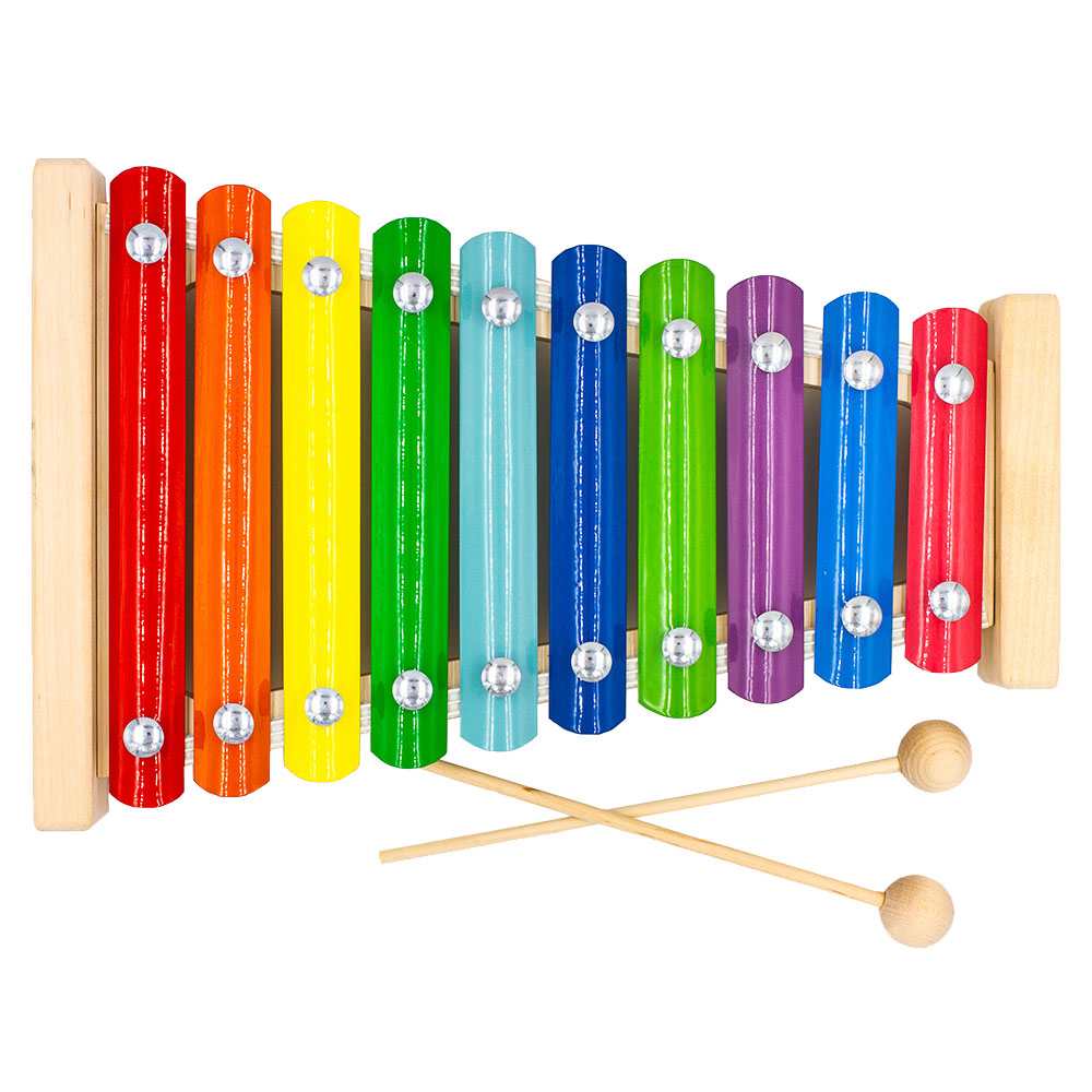 Toy Musical Instrument Alatoys MF1001 play glockenspiel xylophone music toys for boys girls sassy seat doorway jumper 5 toys with musical play mat