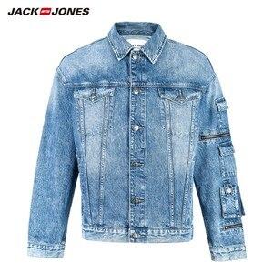 Image 1 - جاكيت دنيم ضيق مناسب للخريف للرجال من JackJones معطف أنيق ملابس خارجية للرجال 219157511