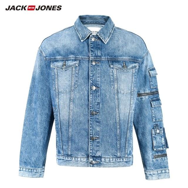 جاكيت دنيم ضيق مناسب للخريف للرجال من JackJones معطف أنيق ملابس خارجية للرجال 219157511