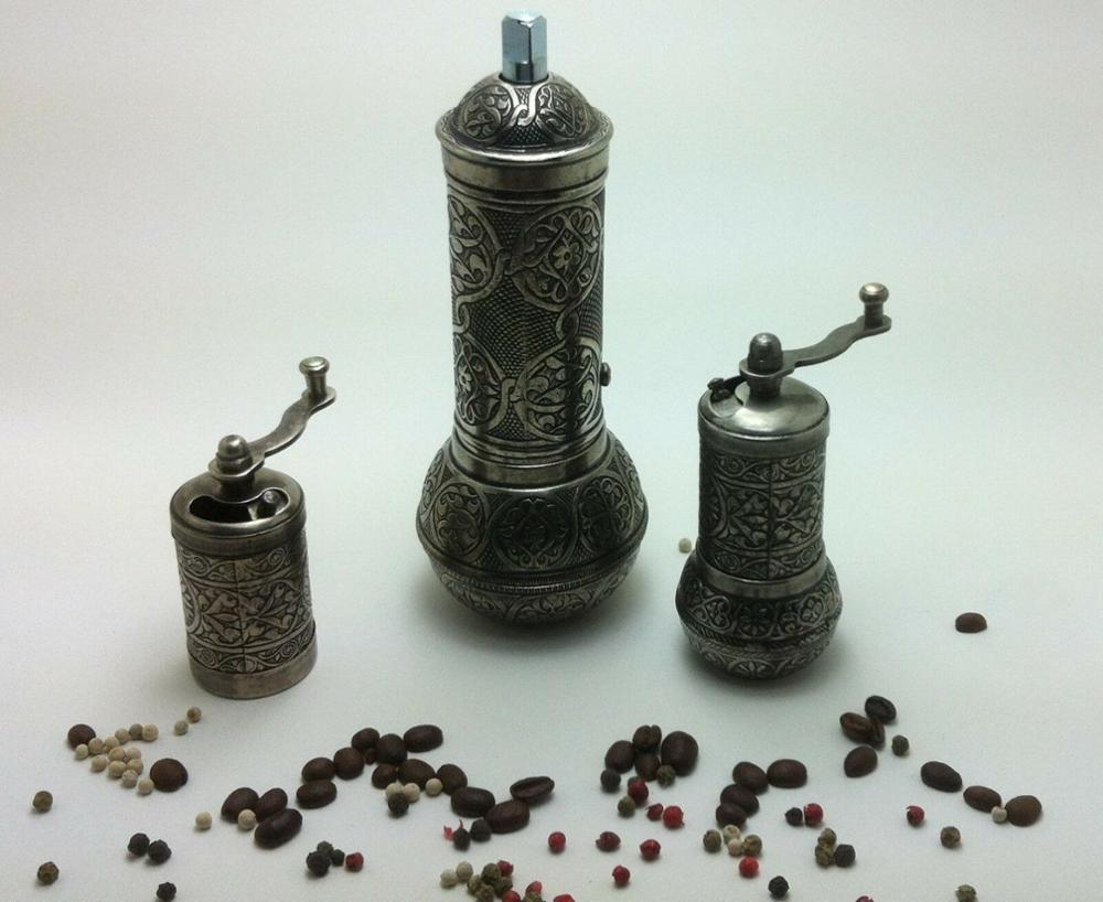 eastern Pepper Coffee Spice Grinder Mill 3 pCS SET 7.2 inch 18CM Hand mill GIFT