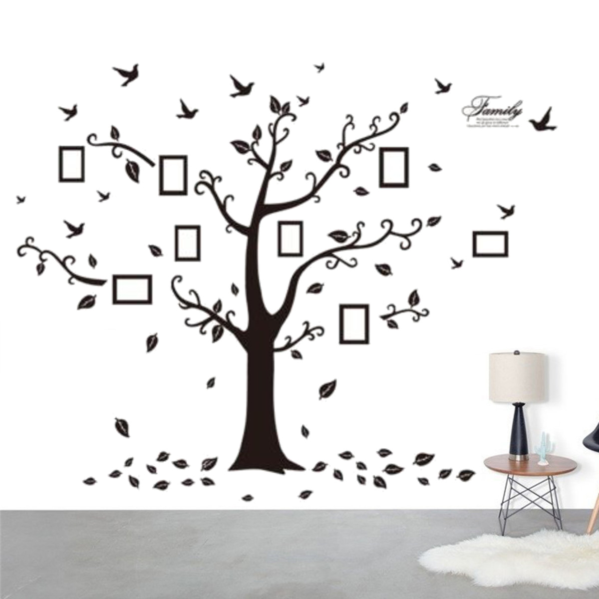 Pvc removable family tree wall stickers large photo pictures frame pvc removable family tree wall stickers large photo pictures frame wallpaper home coffee shop decoration art vinyl decals in wall stickers from home amipublicfo Choice Image