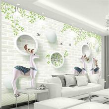 Нордическая Современная минималистская 3d Белая настенная профессиональная