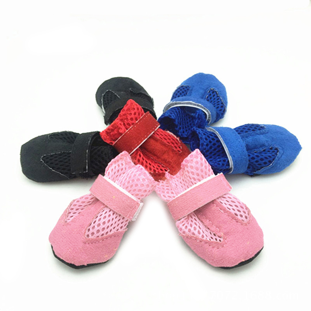Dog Puppy Pet Soft Mesh Anti-slip Shoes Boots Comfortable Casual Sneakers
