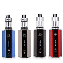 цена на 80W Vape pen Hookah Starter Kit 4ml atomizer Tank e-Cigarette with 1800mAh Battery box Mod Metal Body Electronic Cigarette Kits