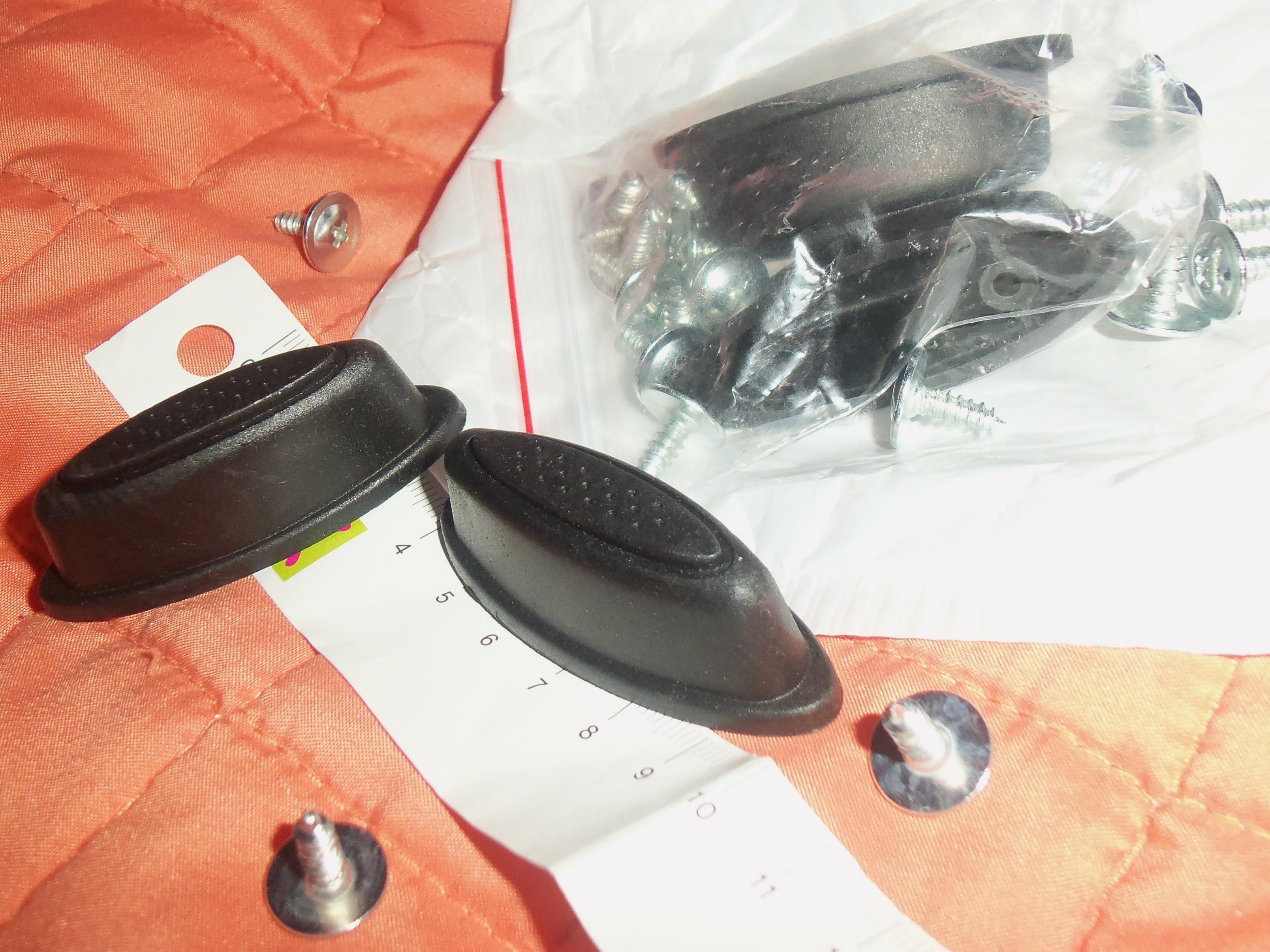 ISKYBOB 2X Vervanging Plastic Bagage Stud voet Voeten Pad Zwart voor elke tas Kit Fashion photo review