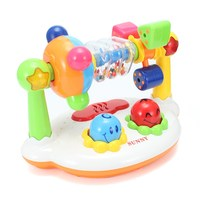 Baby Rattles Toy Funny Rotating Electric Musical Early Educational Toys With Sound And Flash Light For