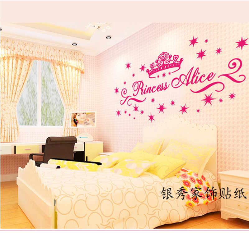 Snow White Princess Alice Girl English Letter Wall Sticker