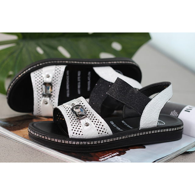 Женские босоножки; DINO ALBAT; RC06_295; Новая женская обувь; женские летние удобные босоножки на танкетке; женские сандалии без застежки на плоской подошве