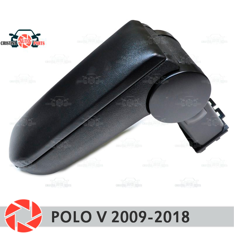 Armrest for Volkswagen Polo 2009-2018 car arm rest central console leather storage box ashtray accessories car styling free shipping armrest for volkswagen vw polo 9n 9n2 9n3 2001 2009 car accessories auto parts center armrest console box arm rest