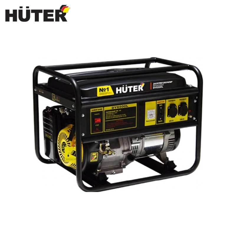 цена на Electric generator HUTER DY6500L Power home appliances Backup source during power outages Benzine power stations