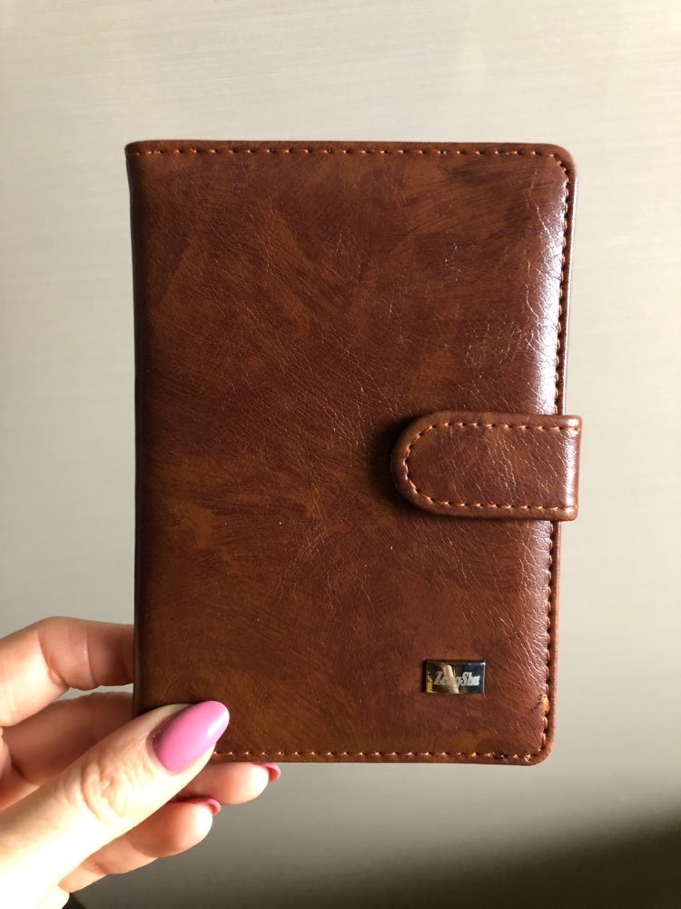 Vintage Pu Leather Passport Holder Custom Women Men Travel Passport Cover Wallet Slot Organizer Bag Card Case (custom available photo review