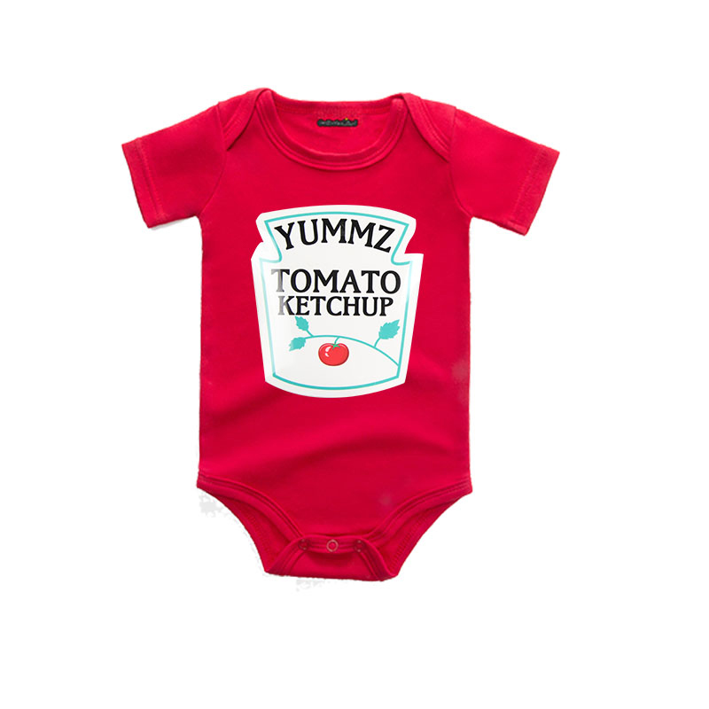 e619d60394c08 US $6.15 44% OFF Culbutomind Yummz Tomato Ketchup Red Baby Bodysuits Baby  1ST Birthday Gift Funny Cute Baby Outfit Red Baby Clothing-in Bodysuits  from ...
