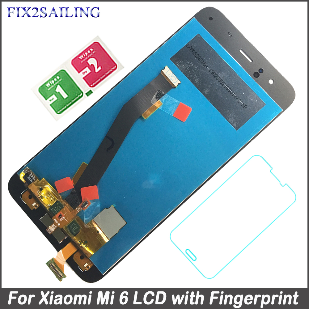Fix2sailing For Xiaomi Mi 6 LCD Display Digitizer Touch Screen Assembly For Mi 6 Phone LCD Replacement Parts For Xiaomi Mi 6Fix2sailing For Xiaomi Mi 6 LCD Display Digitizer Touch Screen Assembly For Mi 6 Phone LCD Replacement Parts For Xiaomi Mi 6