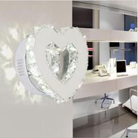 Modern Heart shaped Crystal Mirror Lamp LED Wall Light IC Driver 110/220v 18w Bathroom Lamp Wall Sconce / wall lamp wandlamp