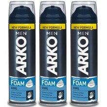Arko Мужская крутая пена для бритья 200 мл чувствительная кожа, мужское бритье, борода, подходит для бритвы, слива, мыла для бритья