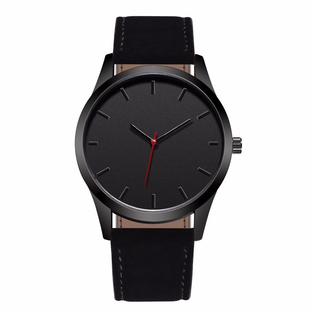 купить New Sport Fashion Large Dial Watches Men Leather Band Quartz Wristwatch Military Clock Male Leather Wrist Watch Relogio Masculin по цене 320.21 рублей