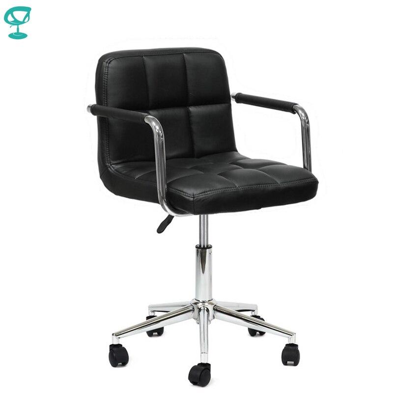 94716 Barneo N-69 cuero rodillo cocina silla giratoria barra silla negro envío gratis en Rusia