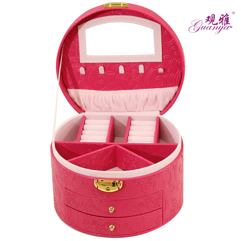 New Type Fashion Leather Jewelry Box Large Space Jewelry Organize Upscale Bracelet Display For Wife Birthday Gift For Daughter