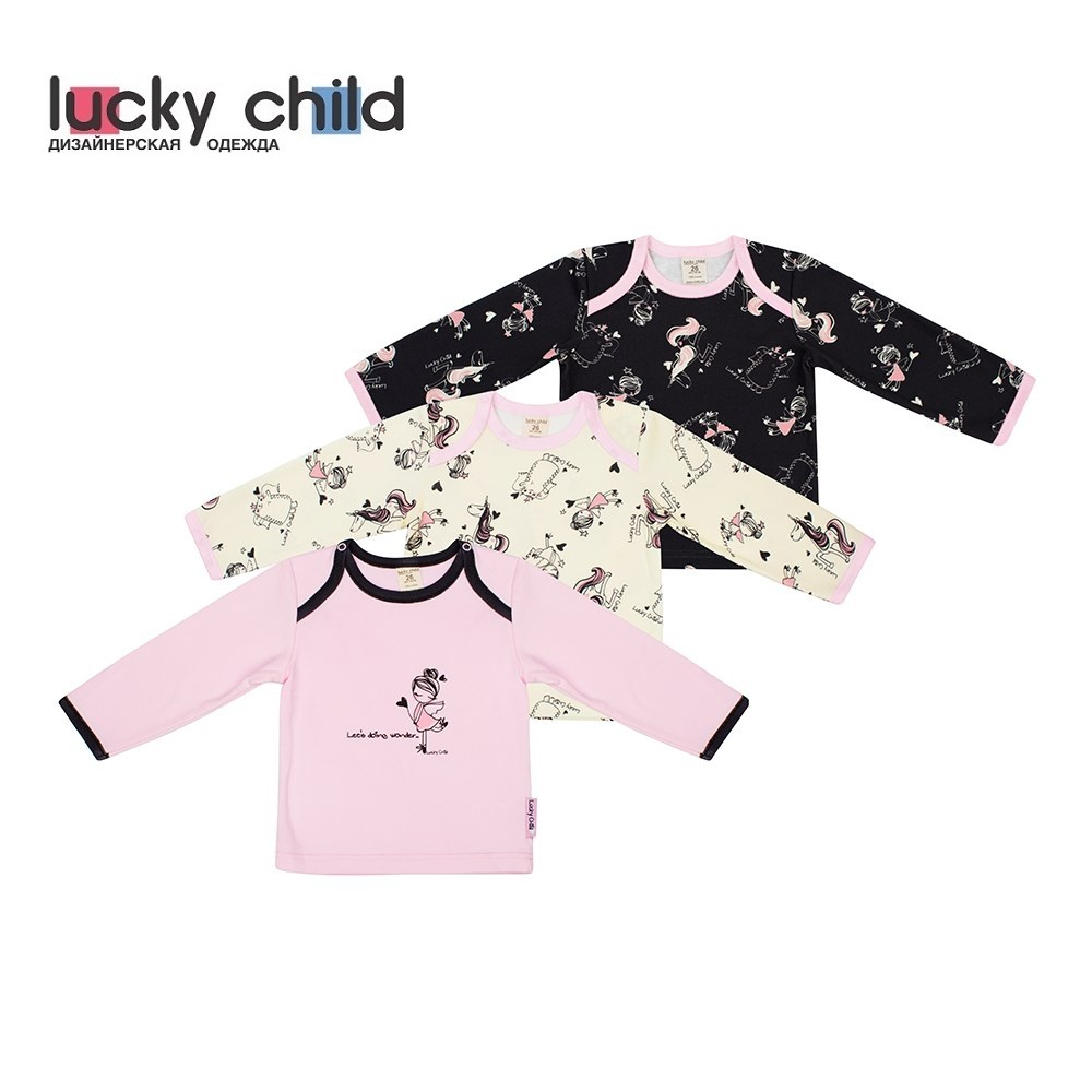 Фото - Hoodies &  Sweatshirt Lucky Child for girls 30-196 (3M-24M) Kids Baby clothing Children clothes Jersey Blouse contrast lace keyhole back blouse