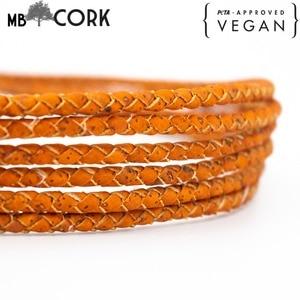 Image 1 - 5mm 꼰 오렌지 라운드 코르크 코드 포르투갈어 코르크 쥬얼리 용품 결과 코드 비건 코르크 코드 COR 382