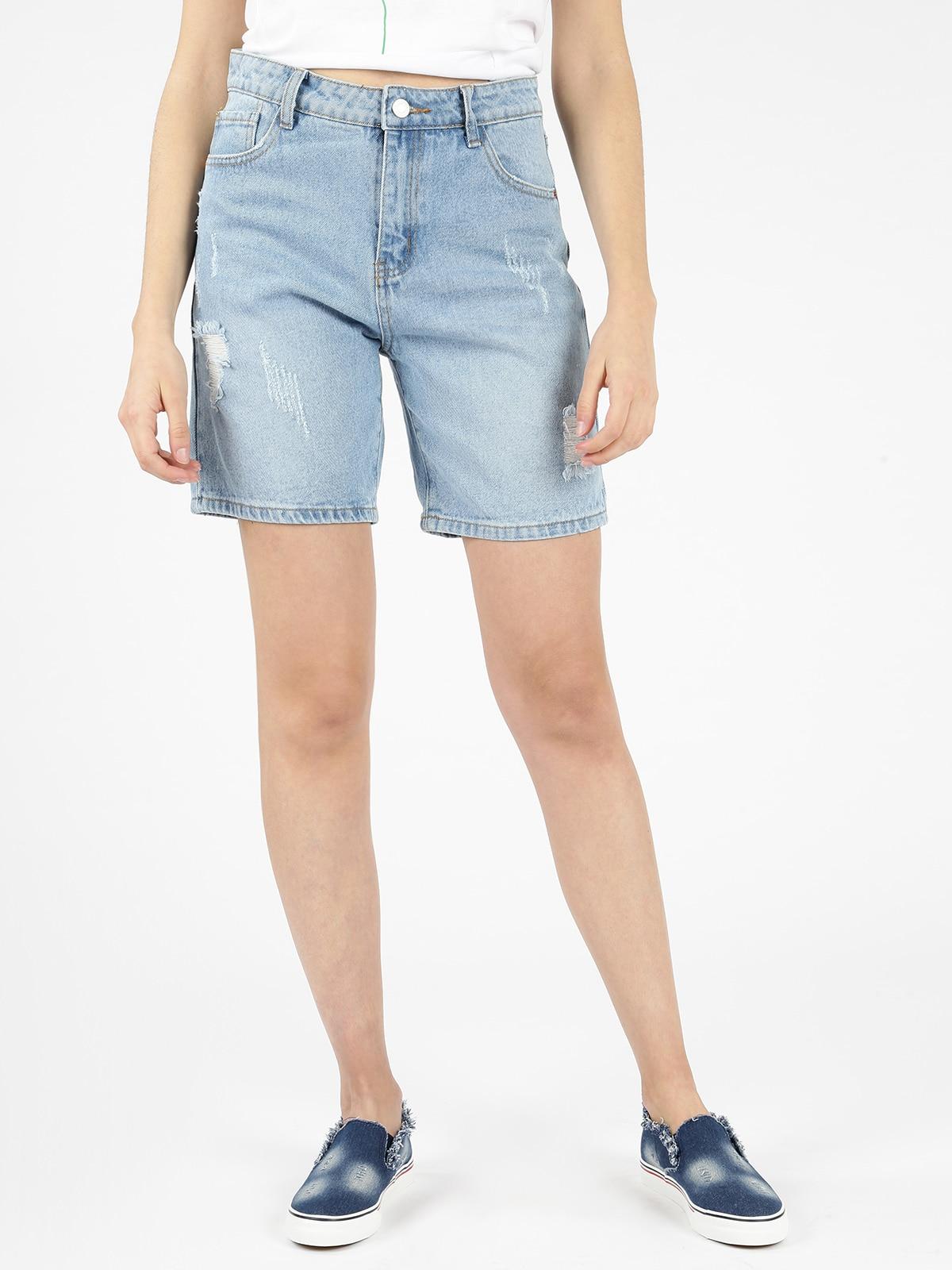 Mom Ripped Denim Shorts
