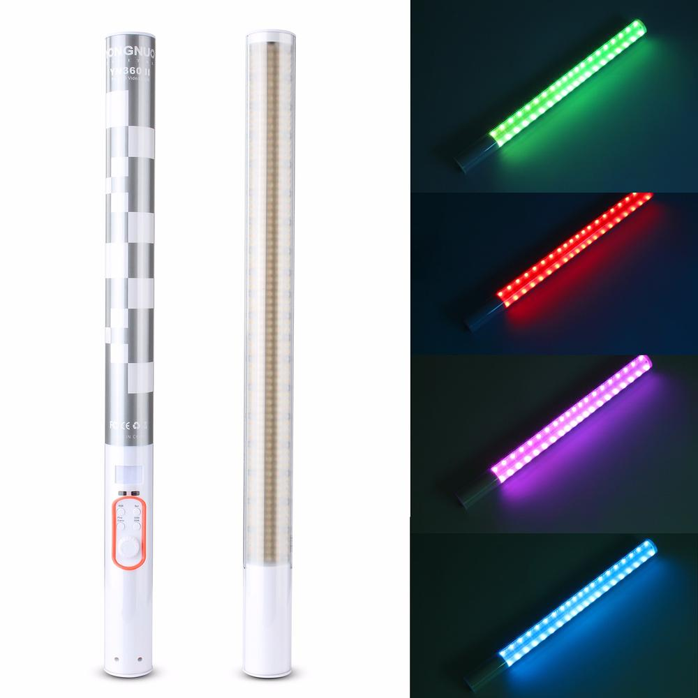 YONGNUO YN360 II Pro RGB Colorful LED Bi-Color Ice Video Handheld Light 5200mAh Battery Support Color Temperature 3200K-5500K