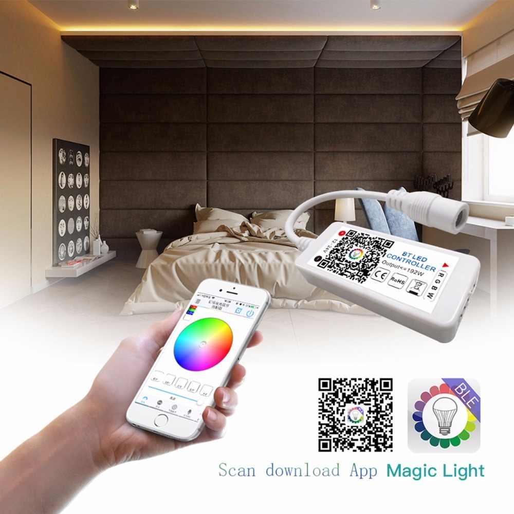 LAIMAIK RGB kit de bande LED + contrôleur Bluetooth Dimmable + alimentation SMD 5050 bande de ruban LED Flexible + auto-adhésif